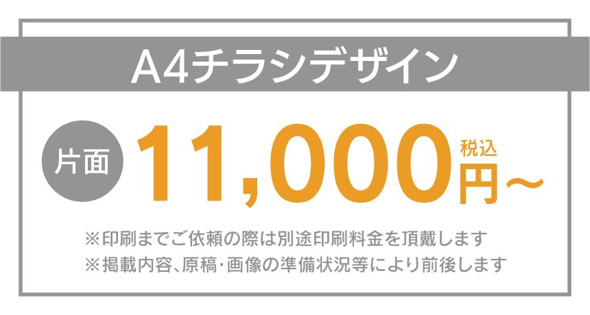 目安料金:チラシデザイン価格11,000円〜